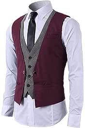 Amazon.es: Rojo - Chalecos / Trajes y blazers: Ropa