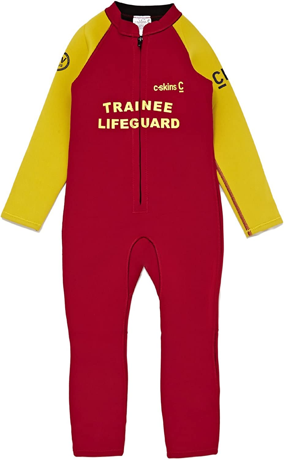 C-Skins 3-2mm Trainee Lifeguard Front Zip Wetsuit Age 2 Red Trainee