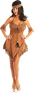 Women's Native American Indian Princess Costume Thankgiving Party Suits