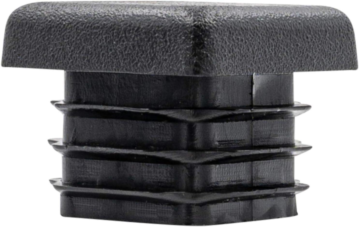 10 St/ück Rohrstopfen Lamellenstopfen Pfostenstopfen Fu/ßkappen Rohrabdeckung schwarz aus hochwertigem Polyethylen Kunststoff f/ür Quadratrohr 20x20 mm Lamellen f/ür Vierkantrohr