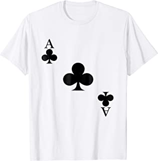 Ace of Clubs Card Playing Cards Tshirt HALLOWEEN COSTUME