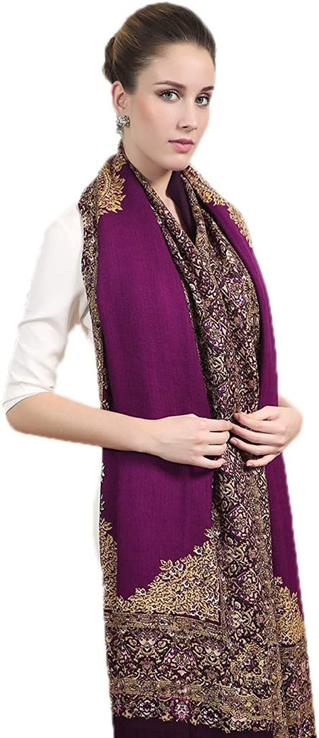 Cold Weather Scarves Scarf Ladies Scarf Ladies Shawl Multifunctional Wool Scarf Fashion Wrapped Tassel Shawl Travel Shawl Winter Soft Cloak New Year Gift Wraps (color   Purple, Size   250  110cm)