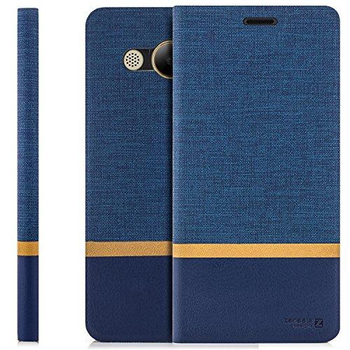 zanasta Tasche kompatibel mit Huawei Y3 (2017) Hülle Flip Hülle Schutzhülle Handytasche mit Kartenfach Blau