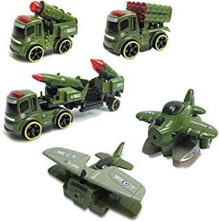US Blue Robot 5pcs Military Plastic Airplane Soldier Model Toy Army Men Figures Accessories Kit Decor Play Set (Green)