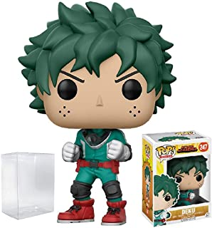 Funko Pop! Anime: My Hero Academia - Deku Vinyl Figure (Bundled with Pop BOX PROTECTOR CASE)