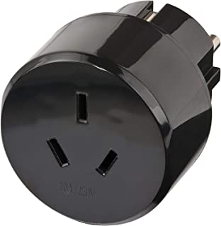 Brennenstuhl Reisestecker / Reiseadapter (Reise Steckdosenadapter für: Euro Steckdose und Australien, China Stecker) schwarz