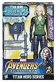 Avengers: Infinity War – Vedova Negra Black Widow Titan Hero Power FX (Personaje 30 cm, Figuras de acción de 30 cm), E0614103