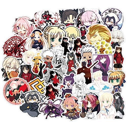 Fate/Stay Night Anime Stickers for Teens Laptop Water Bottles Phone Notebook Luggage Bicycle Skateboard Cars 50pcs
