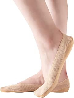 Malla Calcetines Cortos con Almohadillas de Silicona Antideslizantes Juego de Calcetines Invisibles Transpirables para Mujer y Niña (4-6 pares)
