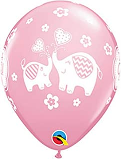 "Qualatex PINK 11"" ITS A GIRL ELEPHANT LTX, One size"