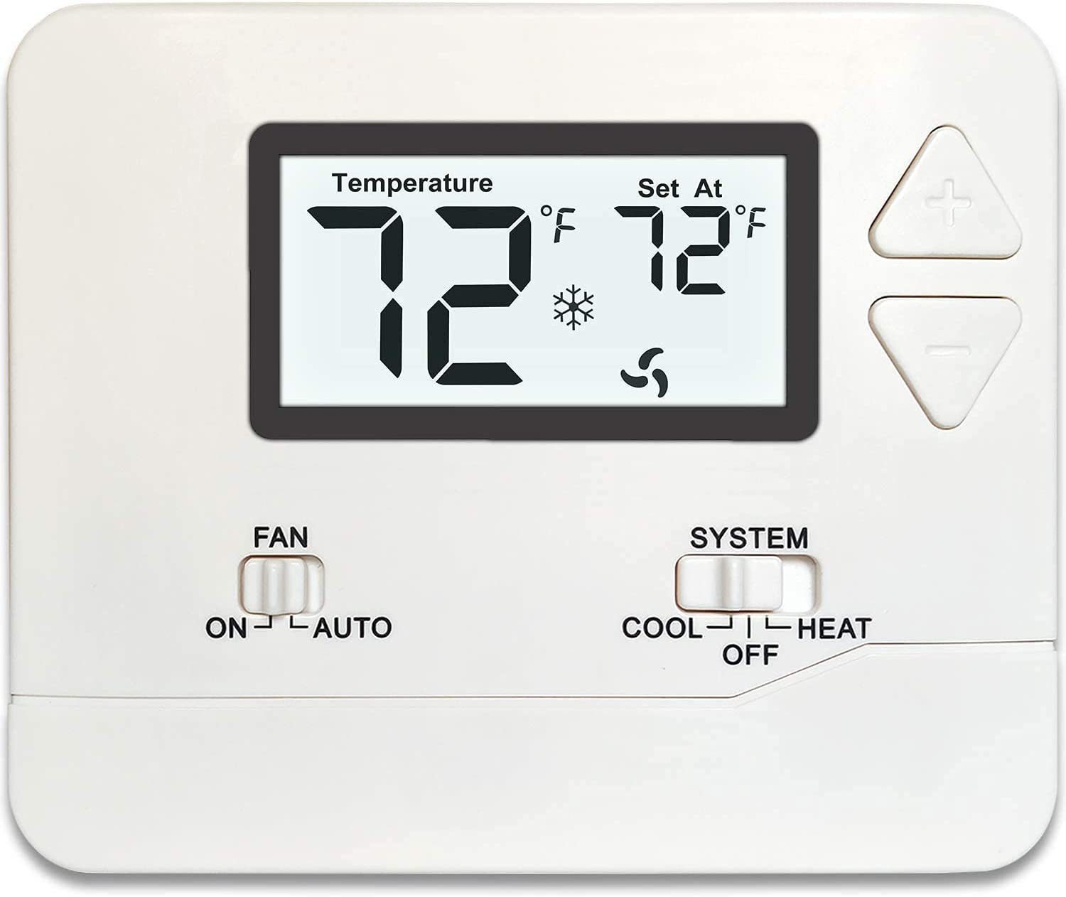 Non-Programmable Thermostat for Home 1 Heat / 1 Cool (White)