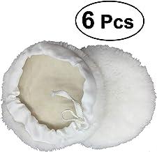 Cera almohadillas almohadillas de pulido de lana de pulir manualidades ounona 180mm Pack de 6