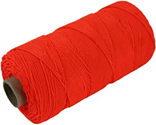 Twisted Nylon Mason Line #18 - Moisture, Oil, Acid & Rot Resistant - Twine String for Masonry, Marine, DIY Projects, Crafting, Commercial, Gardening (275 feet - Single Roll - Fluorescent Orange)