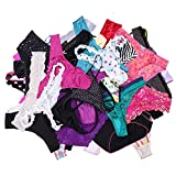UWOCEKA Sexy Underwear, Kinds of Women T-Back Thong G-String Underpants Sexy Lacy Panties, 20 Pcs, X-Large