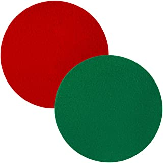 Diversitech Holiday Arrangement Surface Mat Accessory for Floor Protection, Round, Red and Green, 10 inches, (Pack of 2)