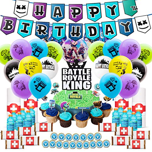 Why Choose DMight Birthday Party Supplies for Game Fans,Video Game Party Decoration,121 Pcs Party Fa...