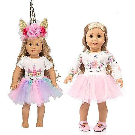 18 Inch Doll Clothes mano bel vestito Vestiti con scarpe da bambola Costume di 18 pollici Bambole 1Set