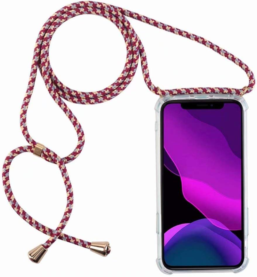 2ndSpring Coque avec Collier Compatible avec Samsung Galaxy S8,Tour de Cou Lani/ère en Corde Pendentif Housse,Gris