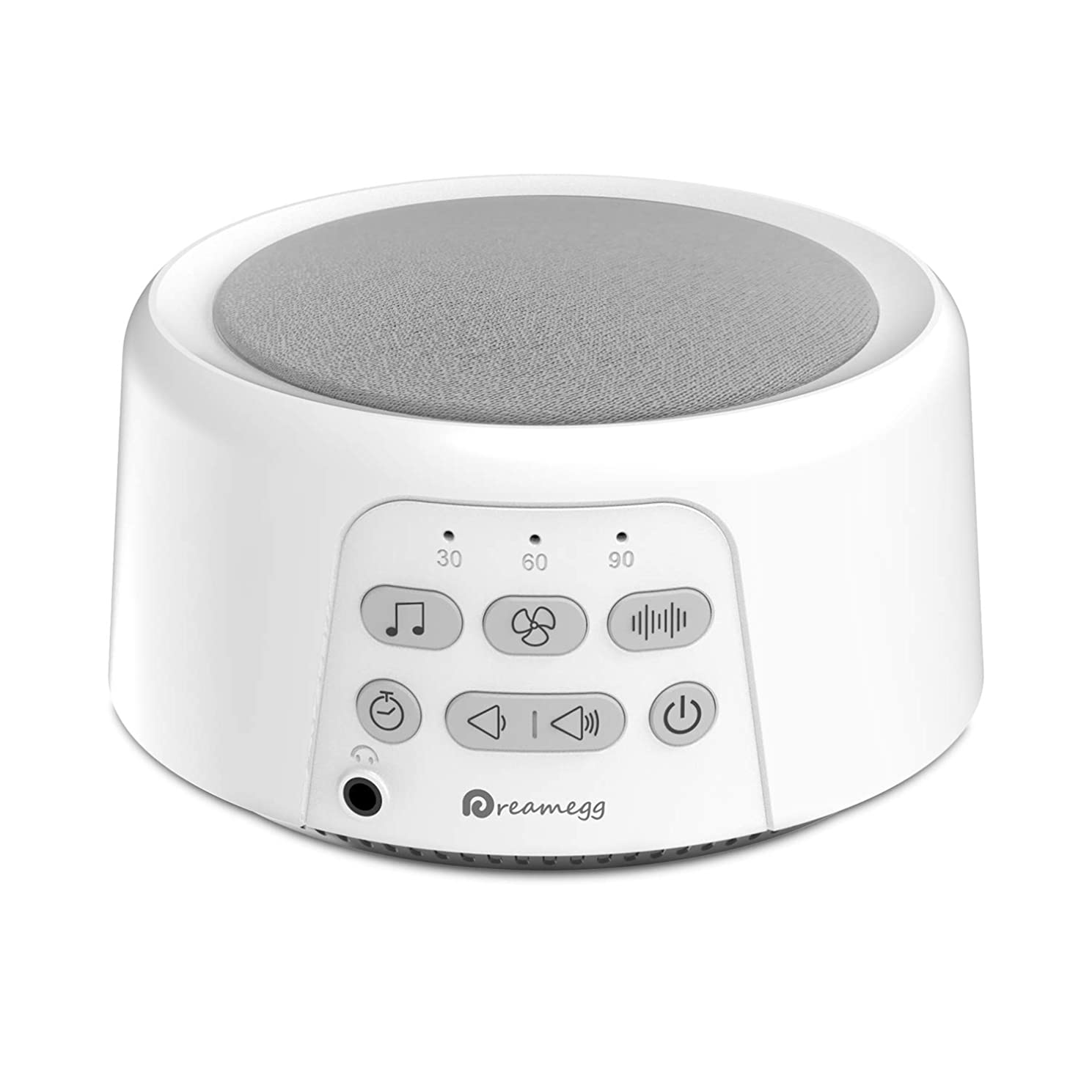 Dreamegg D3 Portable Sound Machine - White Noise Machine for Sleeping, 24 Soothing HiFi Sound, Continuous or Timer, Sleep Therapy Sound Machine for Baby Adult Traveler, Rechargeable Battery or Plug In