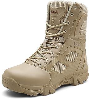 Suetar Mens High-top Military Hiking Boots Outdoor Anti-slip Tactical Combat Boots for Men LQ7068