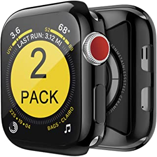[2-Pack] BELONGME for Apple Watch Screen Protector Series 3 2 42mm, Built in TPU All-Around Protective Case Cover for iWatch Series 3/2