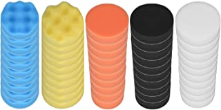 مجموعة ضمادات تلميع 50 قطعة من كول آر سي 7.62 سم لتلميع السيارة باليخت التلقائي