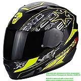 Scorpion Casco Moto EXO-1200Air Solis, Matt black/neon yellow, xl