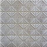 Autocollants, nouveau PE mousse 3D papier peint bricolage stickers muraux décoration murale en relief brique pierre décor à la...