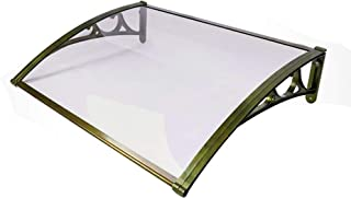 Aeon hum 雨よけ 梅雨対策 ひさし 屋根 テラス アルミ 自転車置き場 連接可能 (60x壁側100)