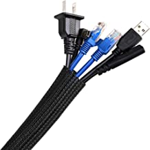 Cable Management Sleeve 3M, AGPTEK Cord Management System for Desk PC TV Computer Projector Wires Protection and Organizat...