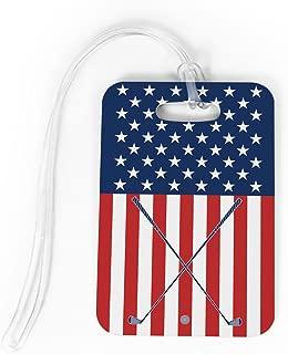 Golf Luggage & Bag Tag | USA Golfer | Custom Info on Back | MEDIUM