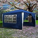 Clanmacy 3x4m Pavillon Wasserdicht hochwertiges Festzelt, UV-Schutz Gartenpavillon, Stabiles Partyzelt mit 4 Seitenteilen für Garten Festival Party