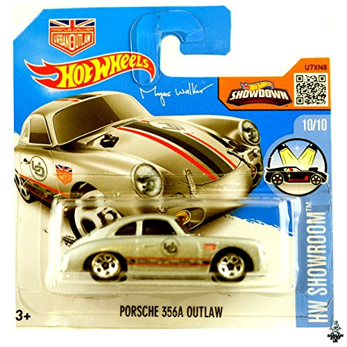 2016 Hot Wheels Porsche 356A Outlaw HW Showroom Silver (Short Card)