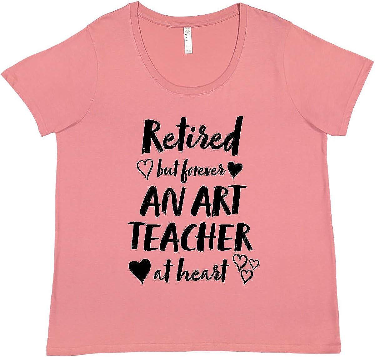 inktastic High quality Retired But Forever an Art Teacher Japan Maker New Heart Pl Women's at