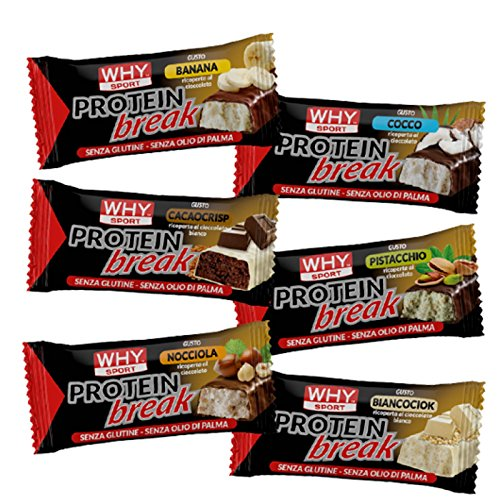 Why Sport Protein Break Bar 14 Barrette Proteiche al 50% di Proteine gusto (BANANA)