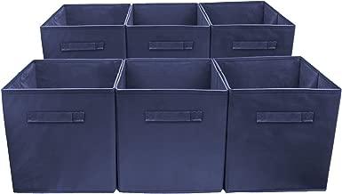 Sorbus Storage Cube Basket Bin, 6 Pack Navy Blue