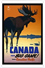 Tin Sign of Retro Vintage Travel Poster Canada (20x30cm) by Nature Scene Painting