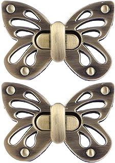 Lhbfcy Twist Turn Lock Sac à Main Fermoir Pression Attache Bouton Fermoir Sac Attache Cartable Sac à Main Fermoir Locks Ac...