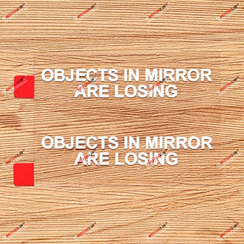 2 Pack White 3 Inches Objects in Mirror are Losing Decal Sticker Vinyl Funny JDM Car Side Review Mirrors