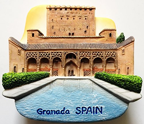 Alhambra Granada España resina de alta calidad 3d imán de nevera nevera tailandés hecho a mano Craft.