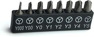 مجموعة رؤوس ثلاثية العجلات ABSTW1 من Silverhill Tools تبدأ بمقاس .6 مم (Y000) لهاتف iPhone؛ 8 ثلاثية الأطراف (Y) المقاسات ...