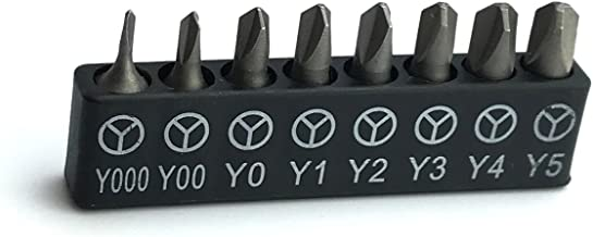 ABSTW1 Triwing Bit Set starting with size .6mm (Y000) for iPhone, 8 Tri-Wing (Y) sizes included up to Y5