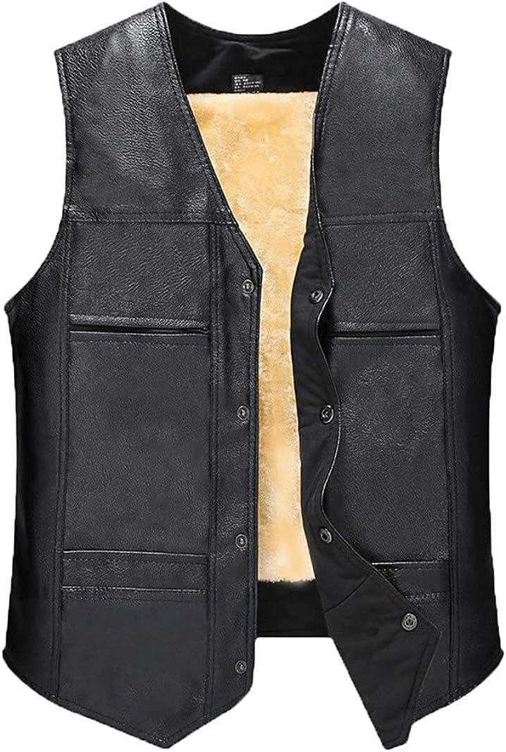 Ranking TOP20 PU Leather Waistcoat Men Motorcycle Autumn Store Coat Vest Sleeve Warm