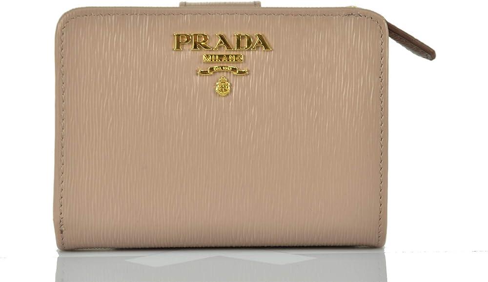 Prada, portafoglio per donna,con inserti dorati 1ML018_2B6P_F0236_00