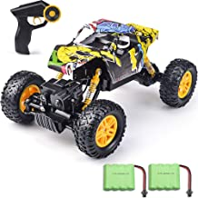 DOUBLE E RC Cars 1/18 Scale High Speed Off Road Remote Control Car with Two Rechargeable Batteries, Racing Toy Car for All Adults and Kids