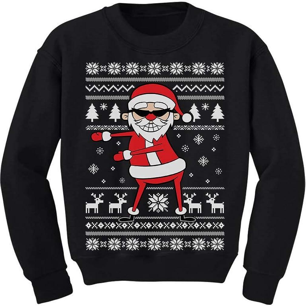 Tstars - Santa Floss Funny Ugly Christmas Sweater Toddler/Kids Sweatshirt