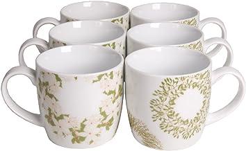 Now Designs Mugs, Wreaths, Set of 6