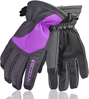 Tbest Full Finger Winter Warm Gloves Waterproof Paded Gloves for Riding, Motorcycle, Snowboard, Skate