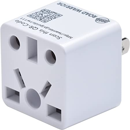 ROAD WARRIOR US Plug Adapter European/UK/China/AUS/India/Brazil to USA Does not Convert Voltage Designed in Japan RW111WH-US