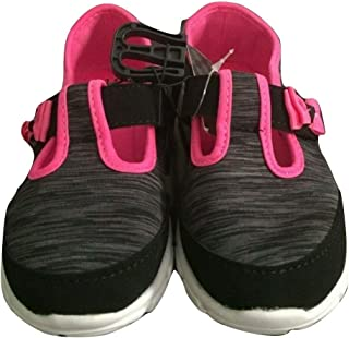 Girls Mary Jane T- Strap Sneaker, Canvas Flat with Bow Athletic School Tennis Shoe
